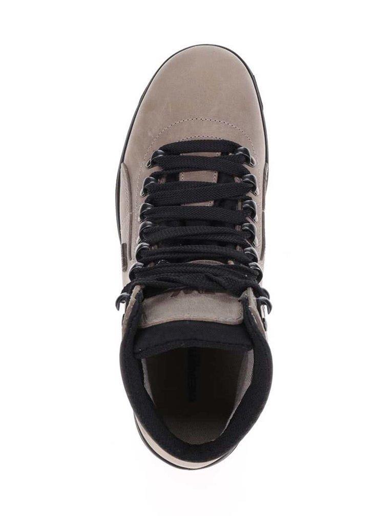 Béžové dámské kožené kotníkové boty Weinbrenner