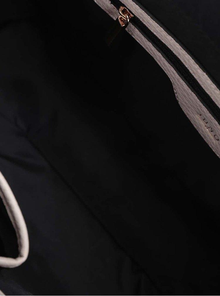 Béžová kabelka s detajly ve zlaté barvě Juno