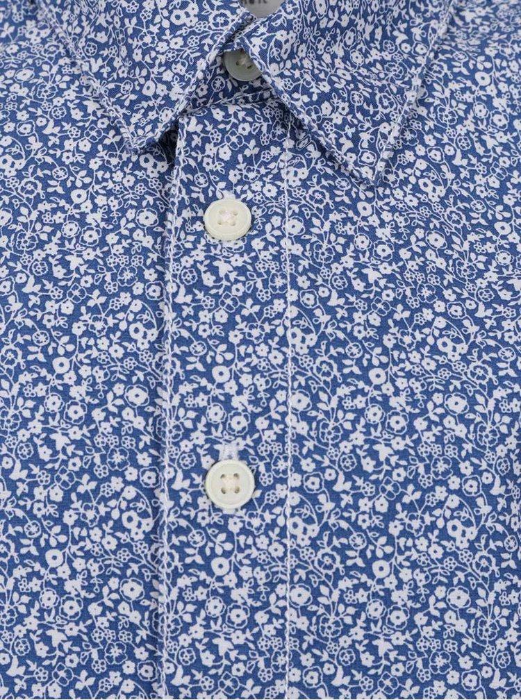 Modrá klučičí vzorovaná košile name it Klower