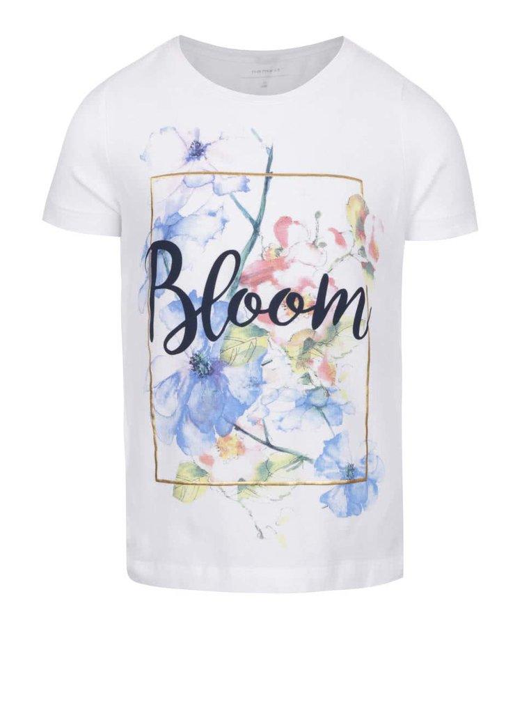 Bílé holčičí tričko s potiskem name it Kay