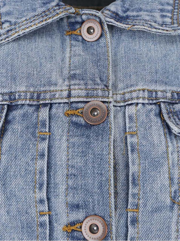 Modrá zkrácená džínová bunda VILA Plenty