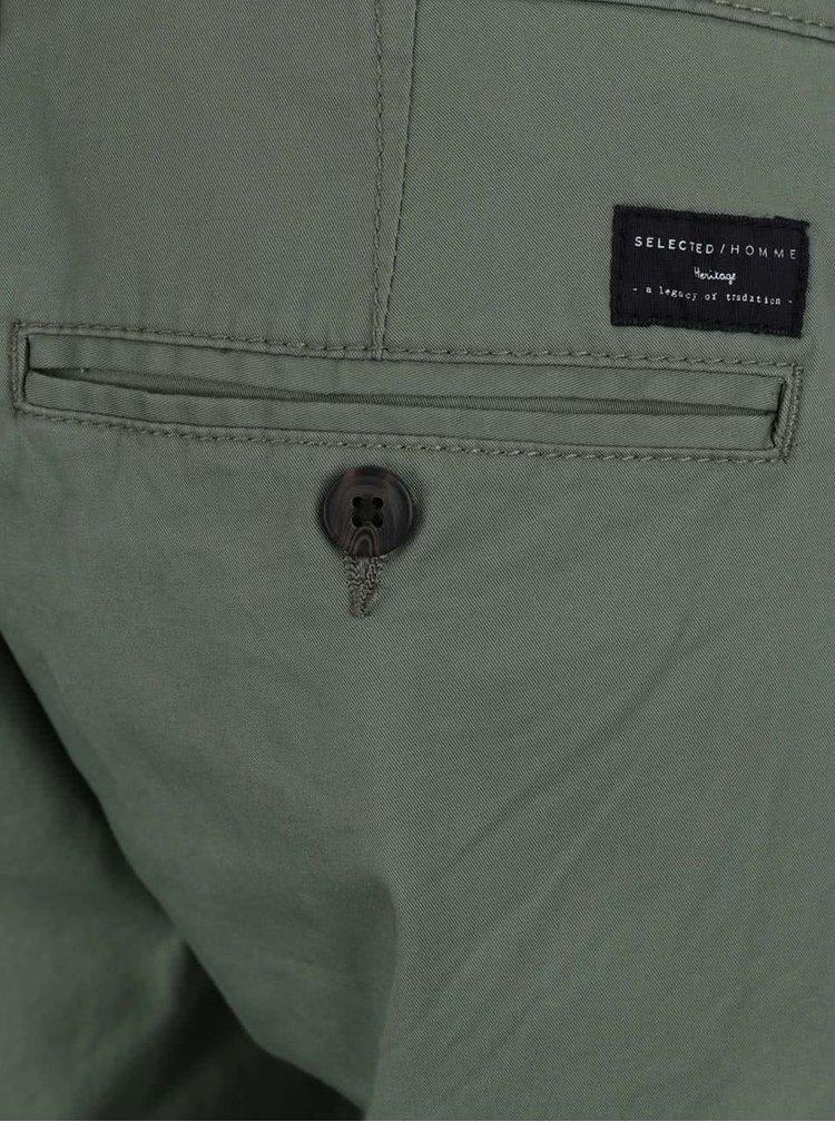 Pantaloni scurti verzi Selected Homme Paris