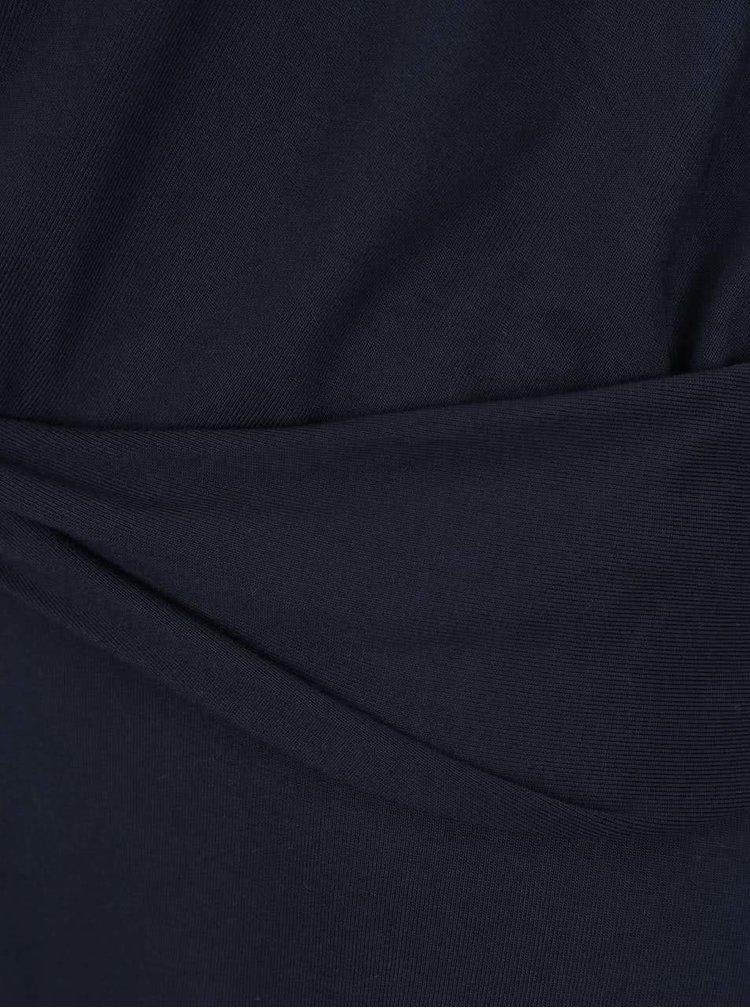 Rochie albastru închis VILA Munik cu model petrecut