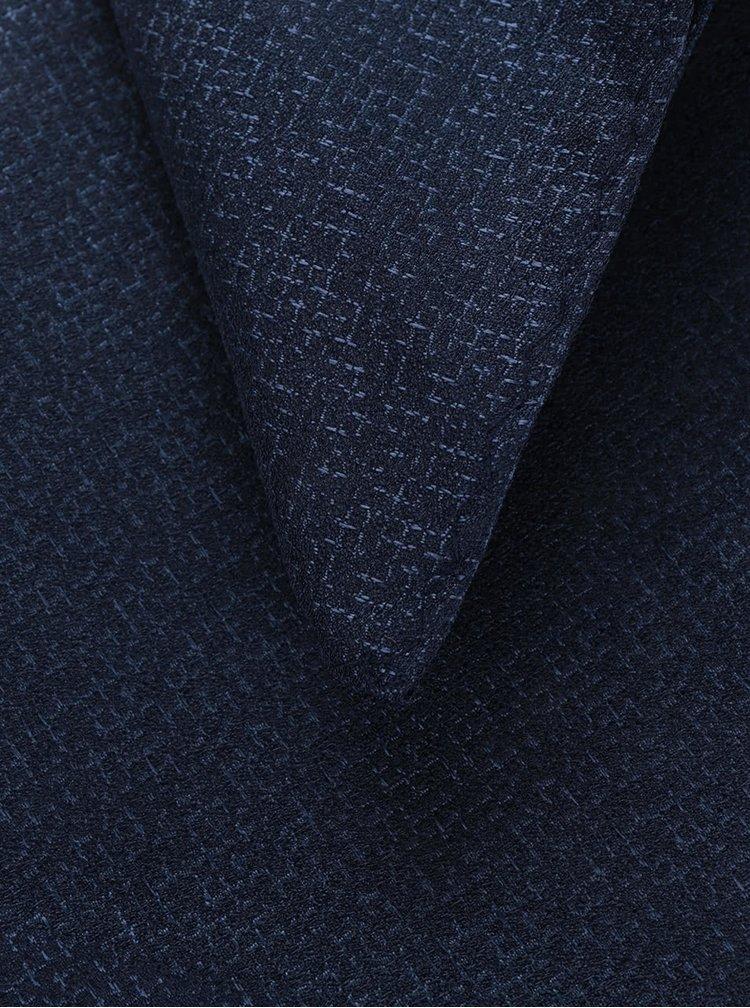 Tmavě modrý vzorovaný set motýlka a kapesníčku Selected Homme Neal