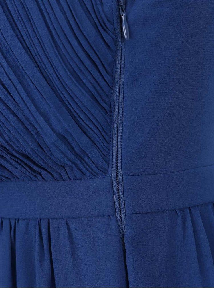 Modré šifonové maxišaty s odnímatelnými ramínky VILA Elva