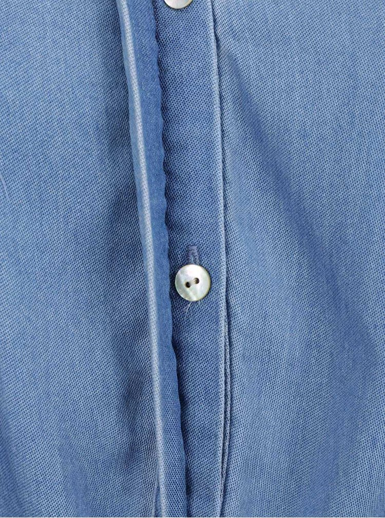 Modré volné džínové šaty VILA Merci