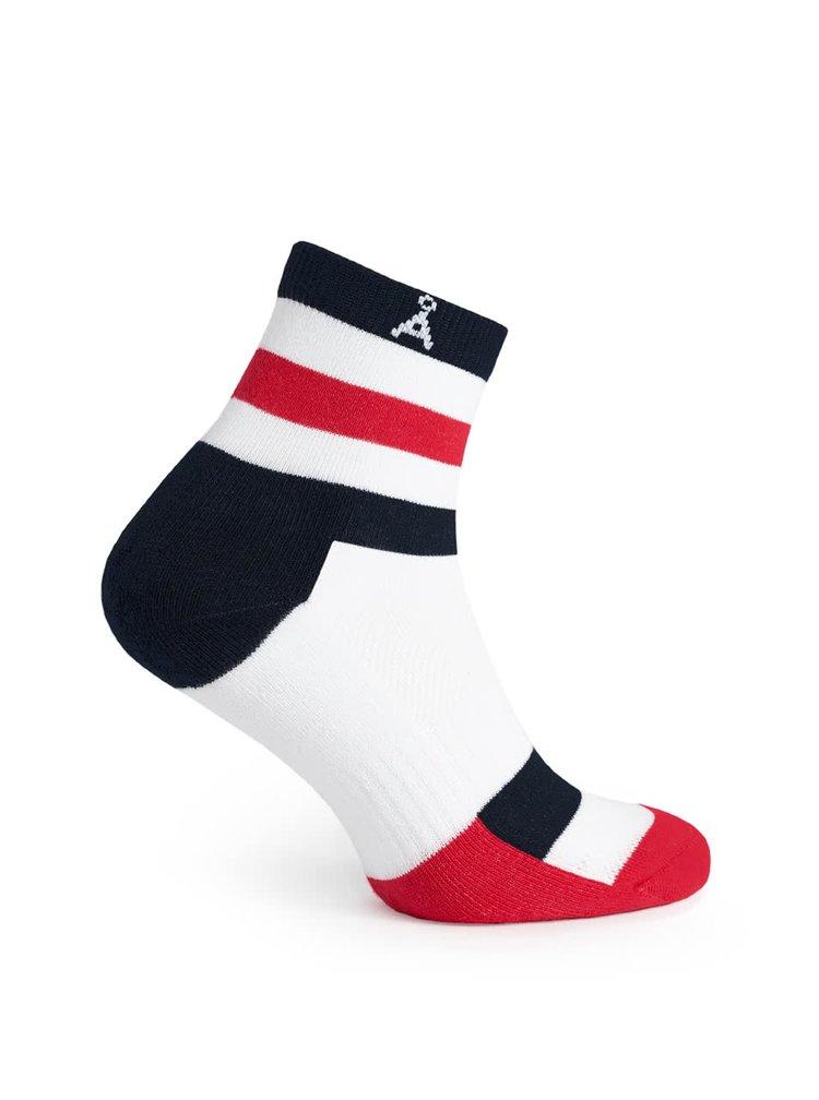 Șosete alb & roșu & negru  V páru cu dungi