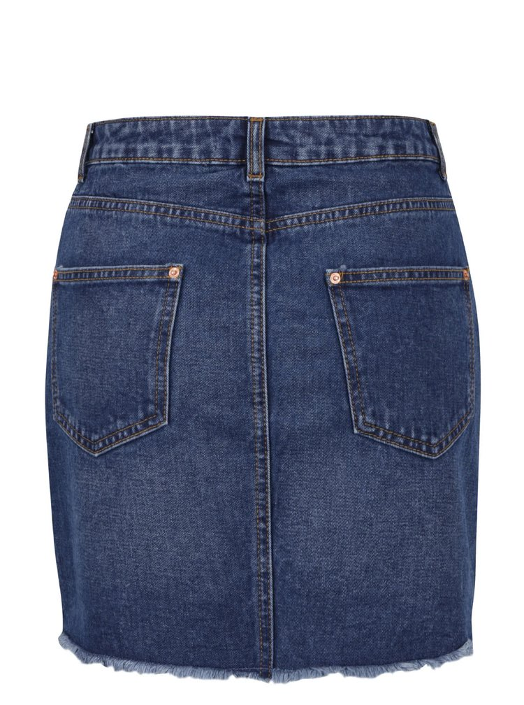 Fustă albastră Miss Selfridge din denim