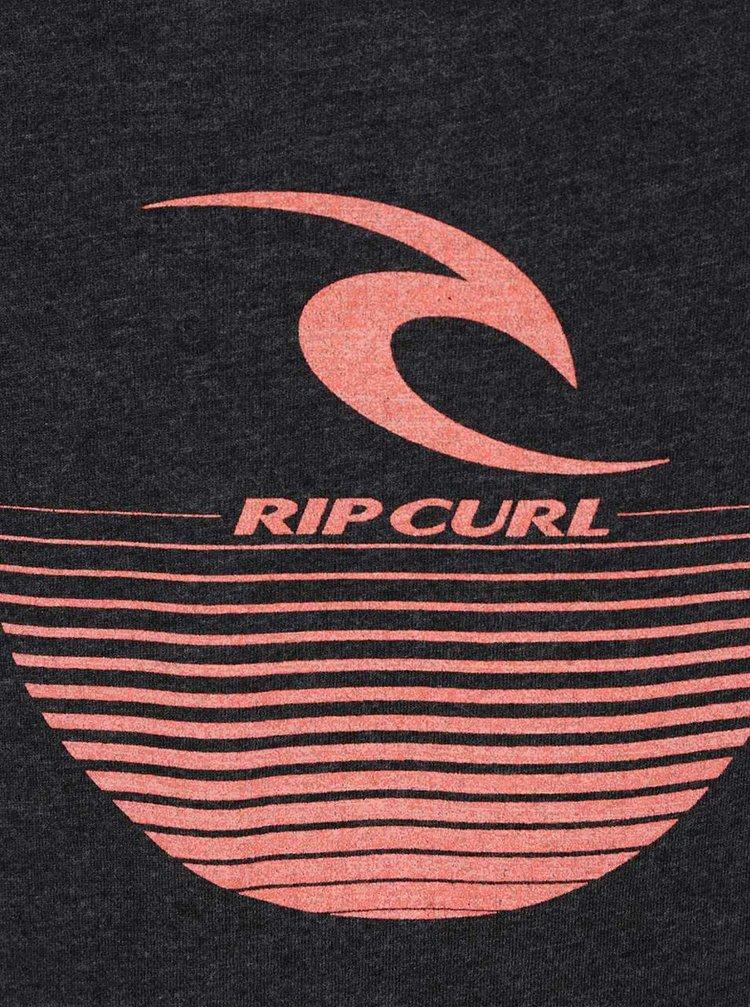Maiou gri închis Rip Curl Corporate tank cu logo print