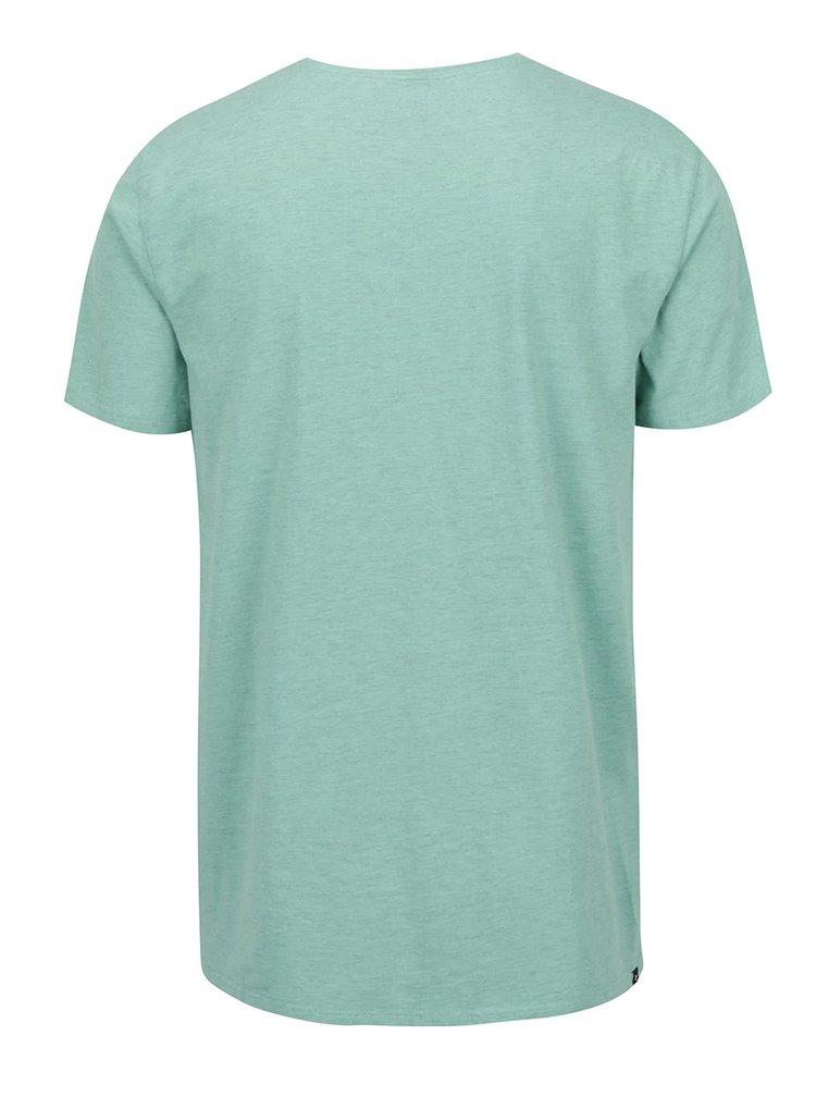 Světle zelené pánské triko s potiskem Rip Curl Surfers