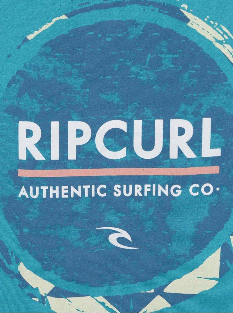 Maiou turcoaz Rip Curl cu logo print