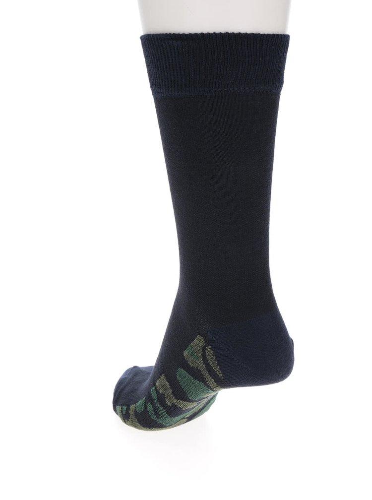 Set de 3 pereche de șoste negru & bleumarin Burton Menswear London cu model camuflaj