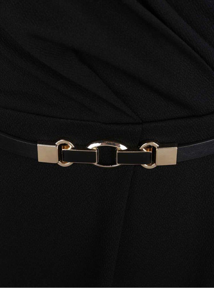 Černé šaty s páskem Miss Selfridge