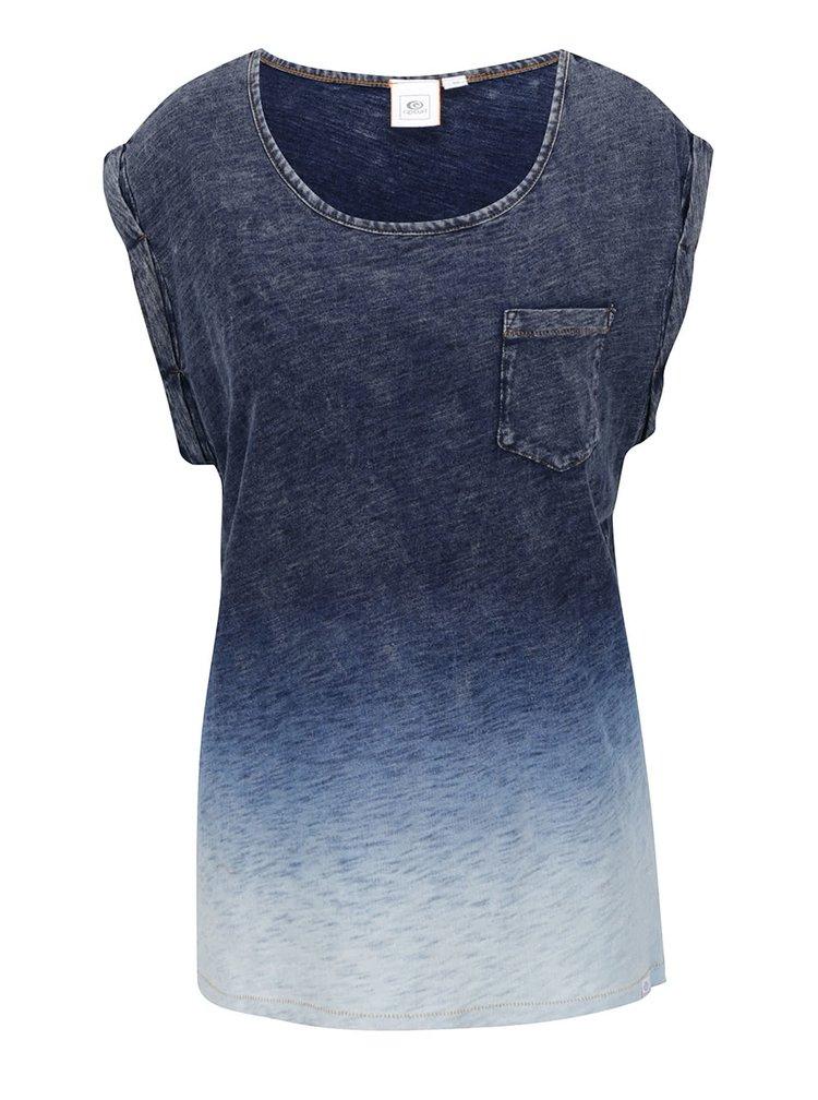 Tmavě modré žíhané dámské volné tričko s ombré efektem Rip Curl Fade