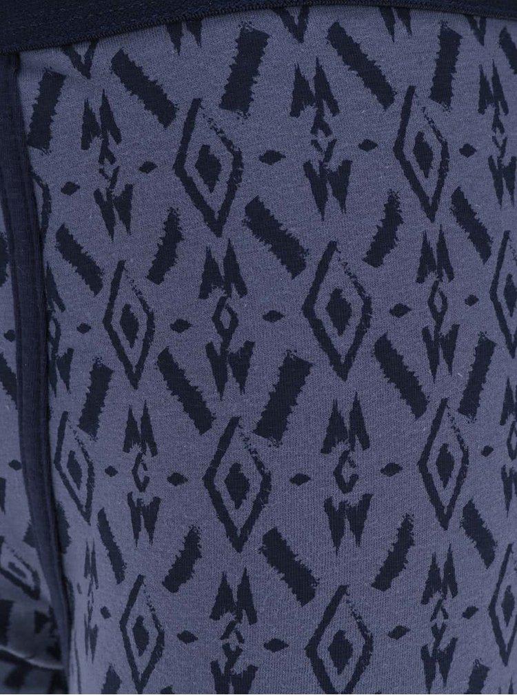 Set de 3 boxeri visiniu & albastru Burton Menswear London cu model