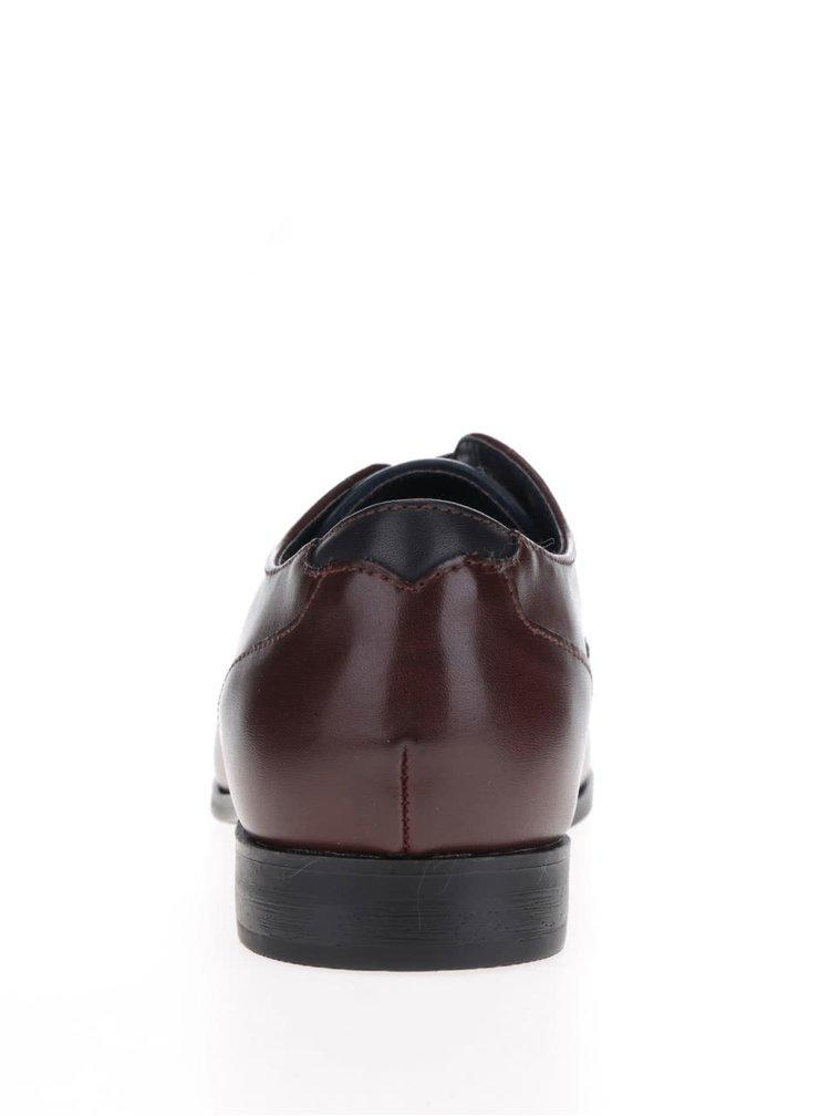 Pantofi maro inchis Burton Menswear London cu aspect lucios