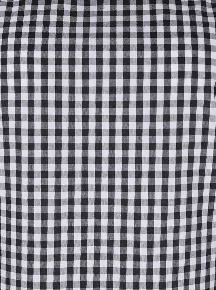 Bílo-černé kostkované šaty s odhalenými rameny Miss Selfridge
