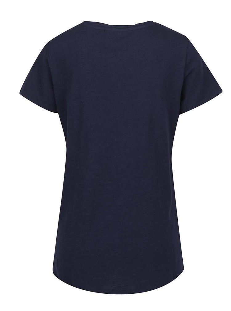 Tmavě modré tričko s potiskem VERO MODA Tazmin