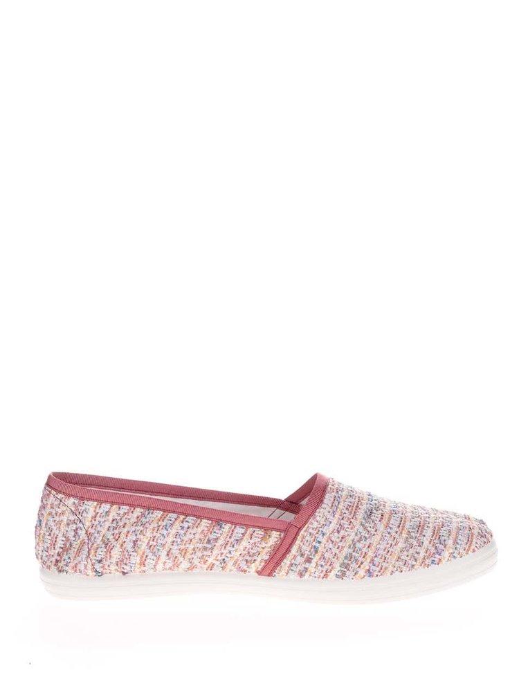 Mocasini roz OJJU cu model în dungi