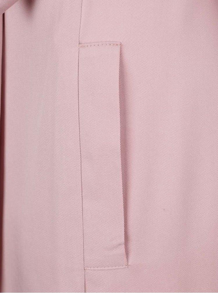 Růžový lehký kabát Miss Selfridge Petites
