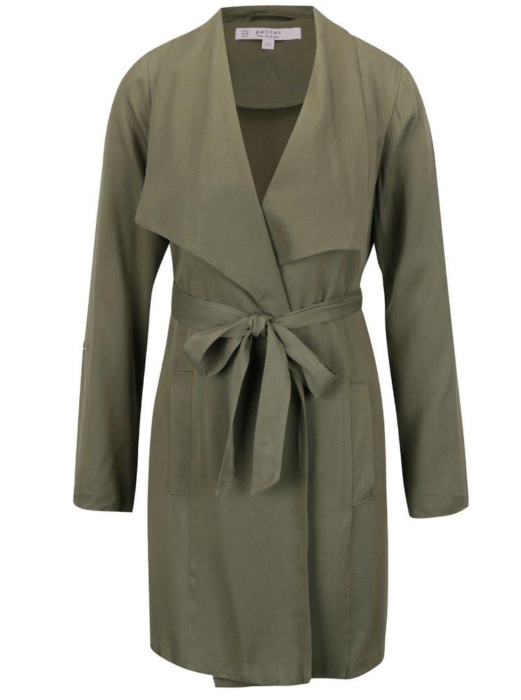 Zelený lehký kabát Miss Selfridge Petites