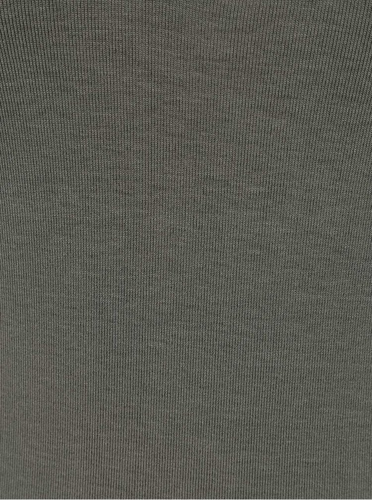 Zelené tričko s pásky v dekoltu Miss Selfridge