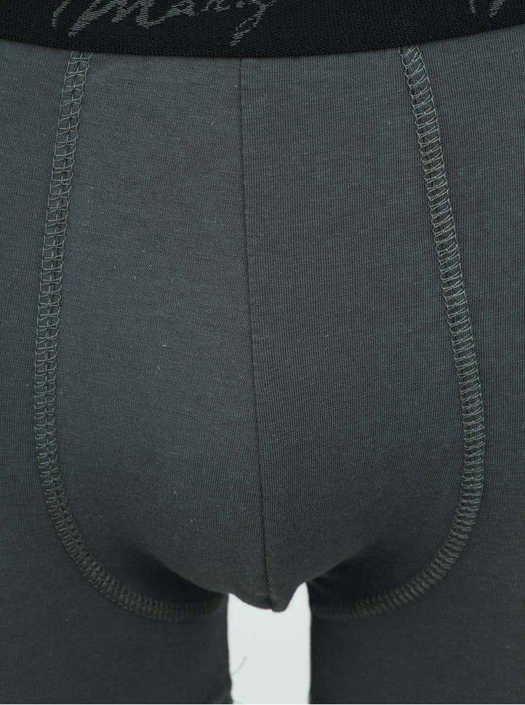 Tmavě šedé boxerky Marginal