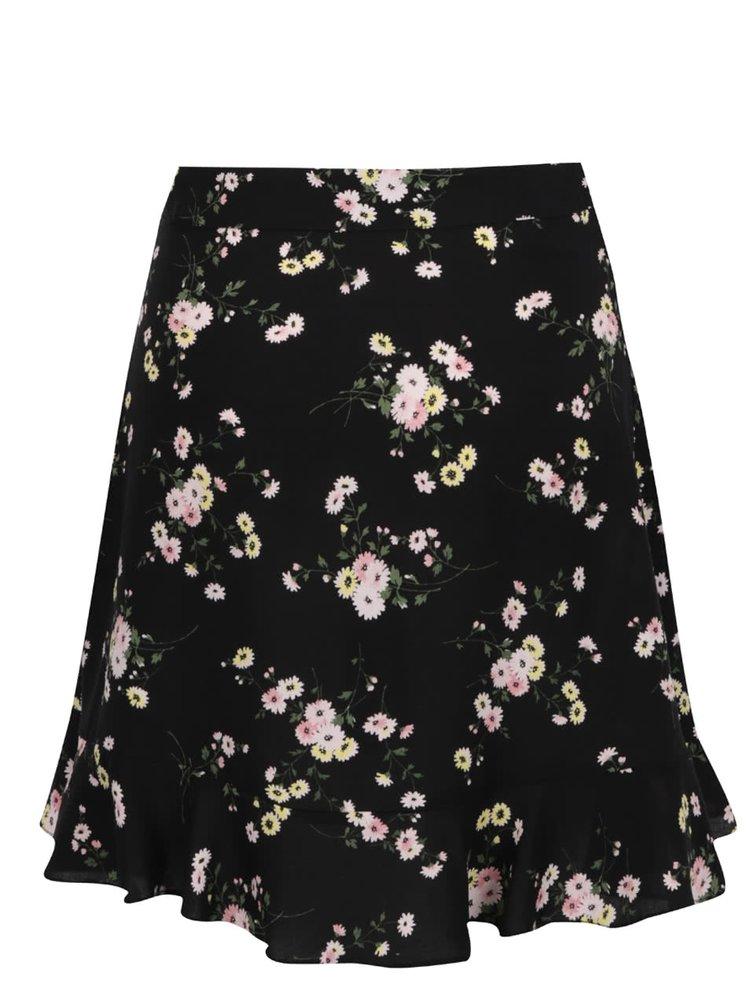 Černá květovaná sukně Dorothy Perkins
