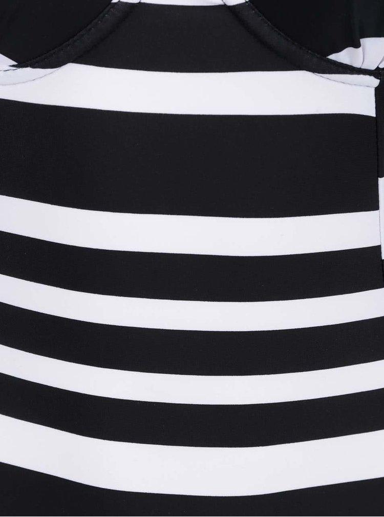 Černo-bílé pruhované jednodílné plavky Dorothy Perkins