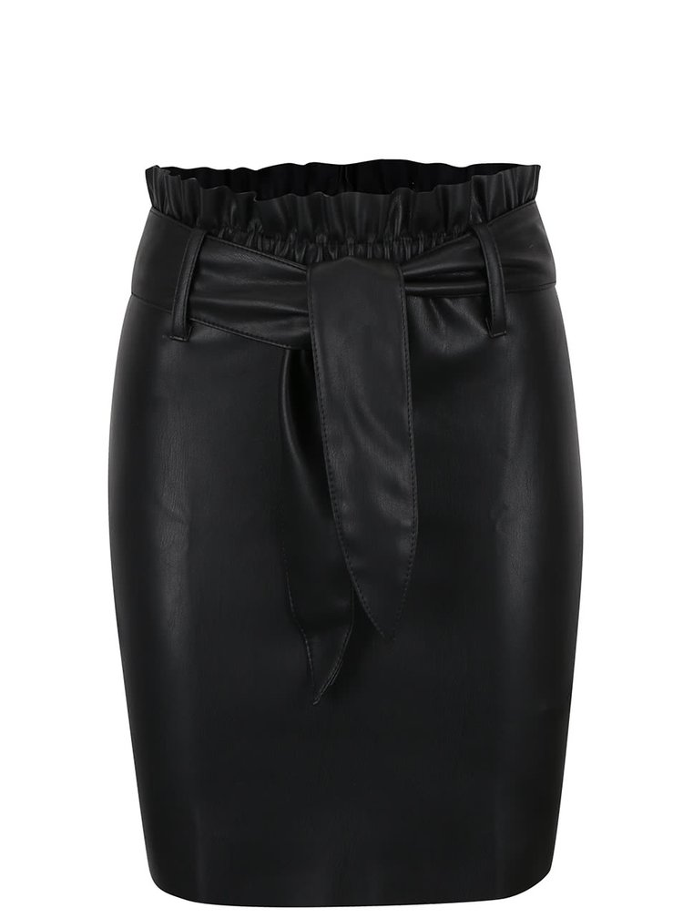 Fusta neagra Miss Selfridge cu talie elastica