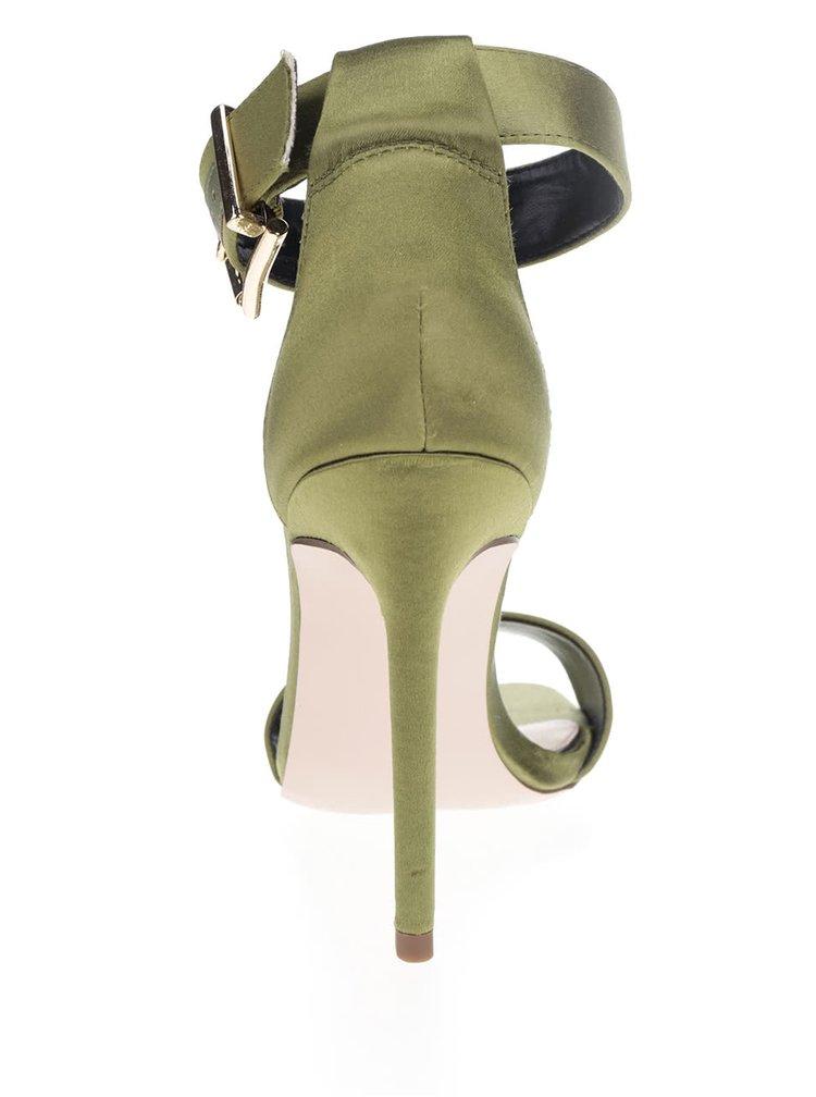 Sandale verzi Miss Selfridge cu toc stiletto