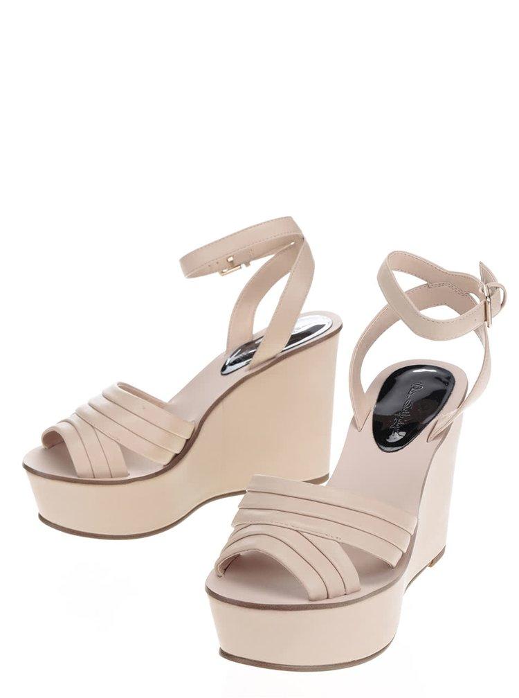 Sandale bej Miss Selfridge cu platforma