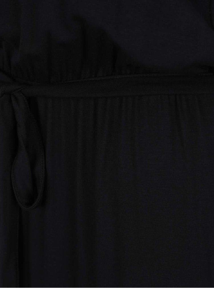Černé maxišaty s odhalenými rameny Dorothy Perkins