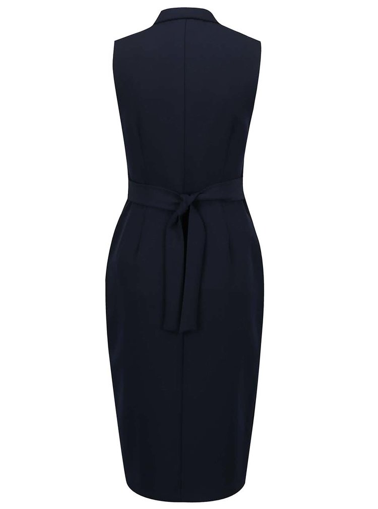 Tmavě modré šaty na zip Dorothy Perkins