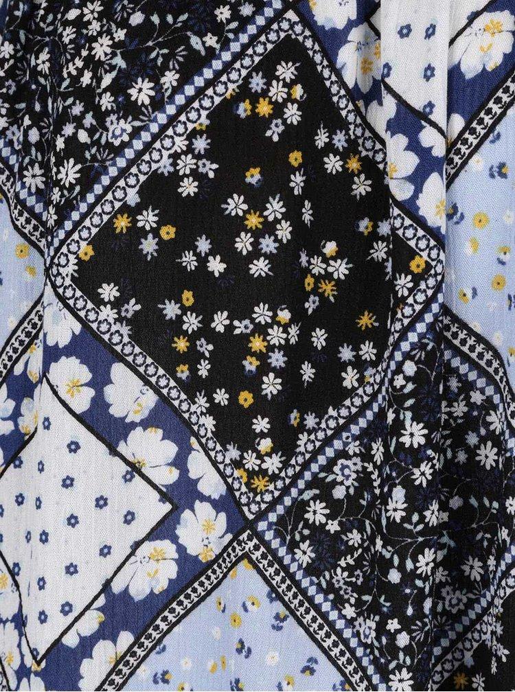 Modrá květovaná halenka s odhalenými rameny Dorothy Perkins