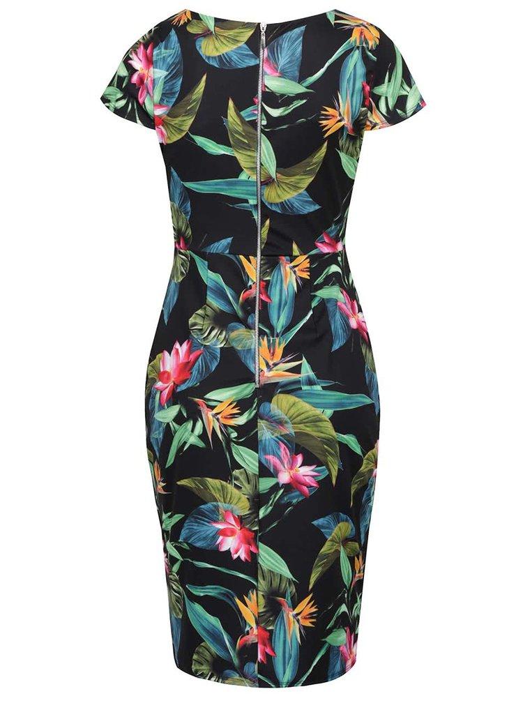 Zeleno-černé pouzdrové šaty Dorothy Perkins