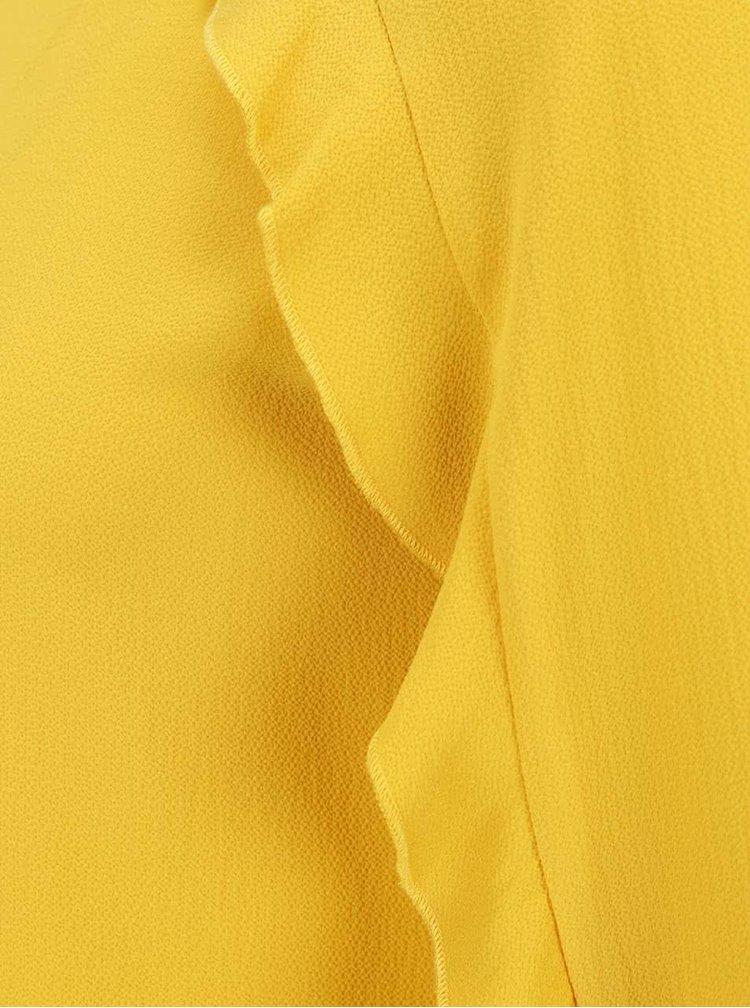 Žlutá halenka s volány Dorothy Perkins Petite