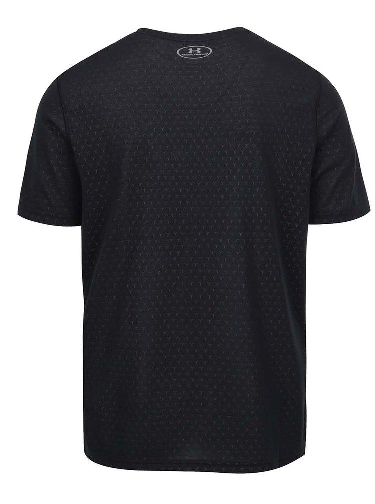 Černé pánské vzorované funkční triko Under Armour UA Threadborne Ftd Emboss