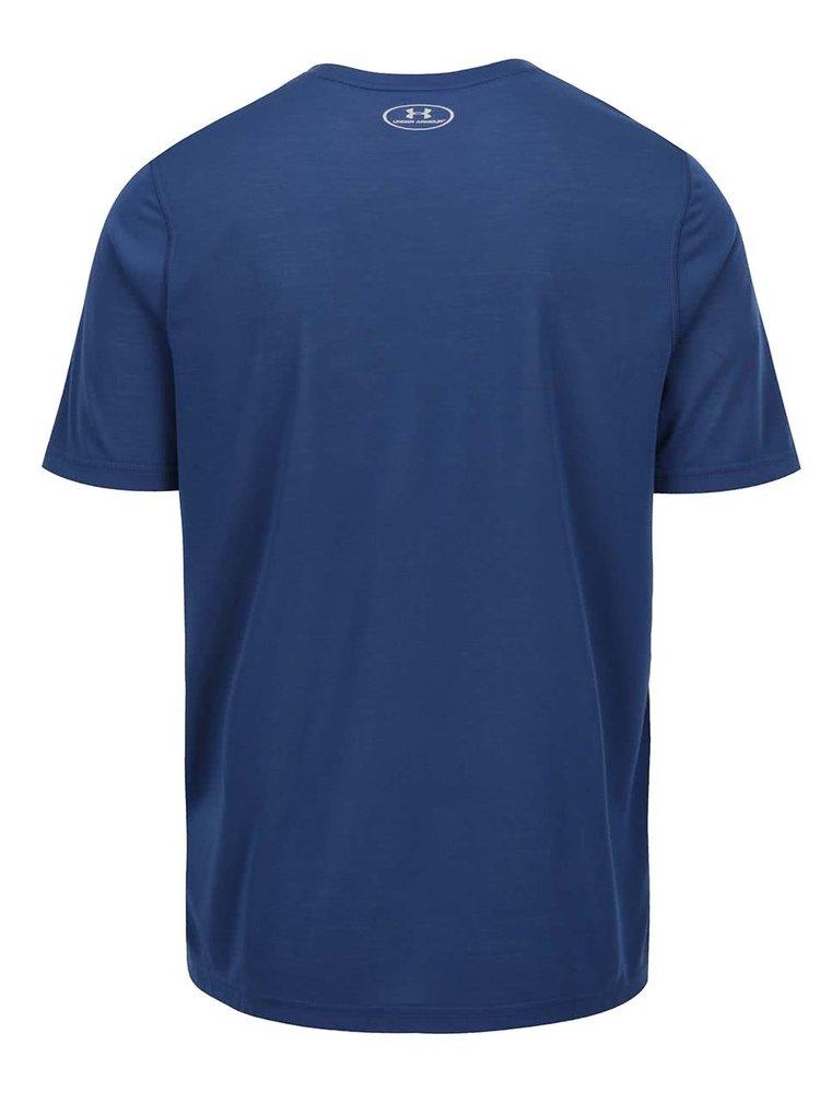Tmavě modré pánské funkční triko Under Armour UA Threadborne Fitted