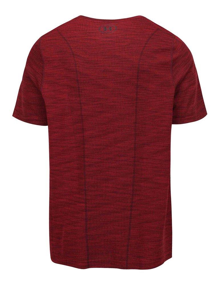 Vínové pánské funkční triko Under Armour UA Threadborne Knit