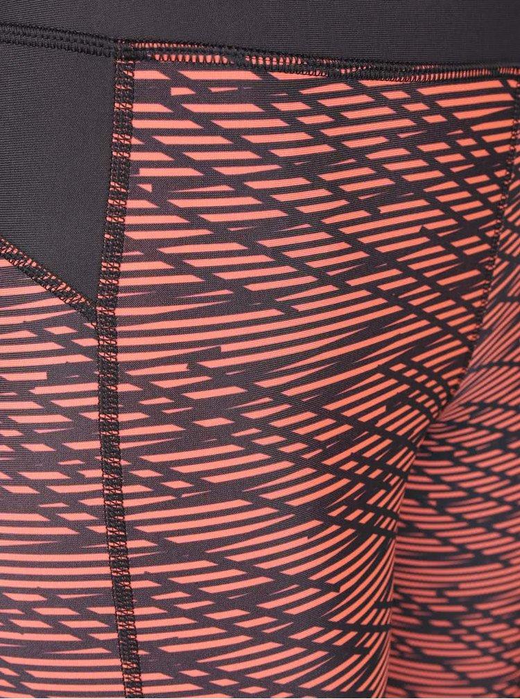 Oranžové dámské funkční 3/4 legíny Under Armour Printed Capri