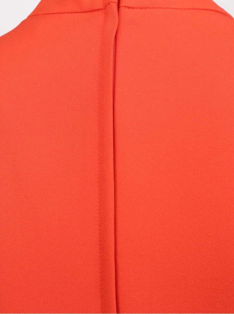 Rochie roșie Dorothy Perkins cu guler tunică