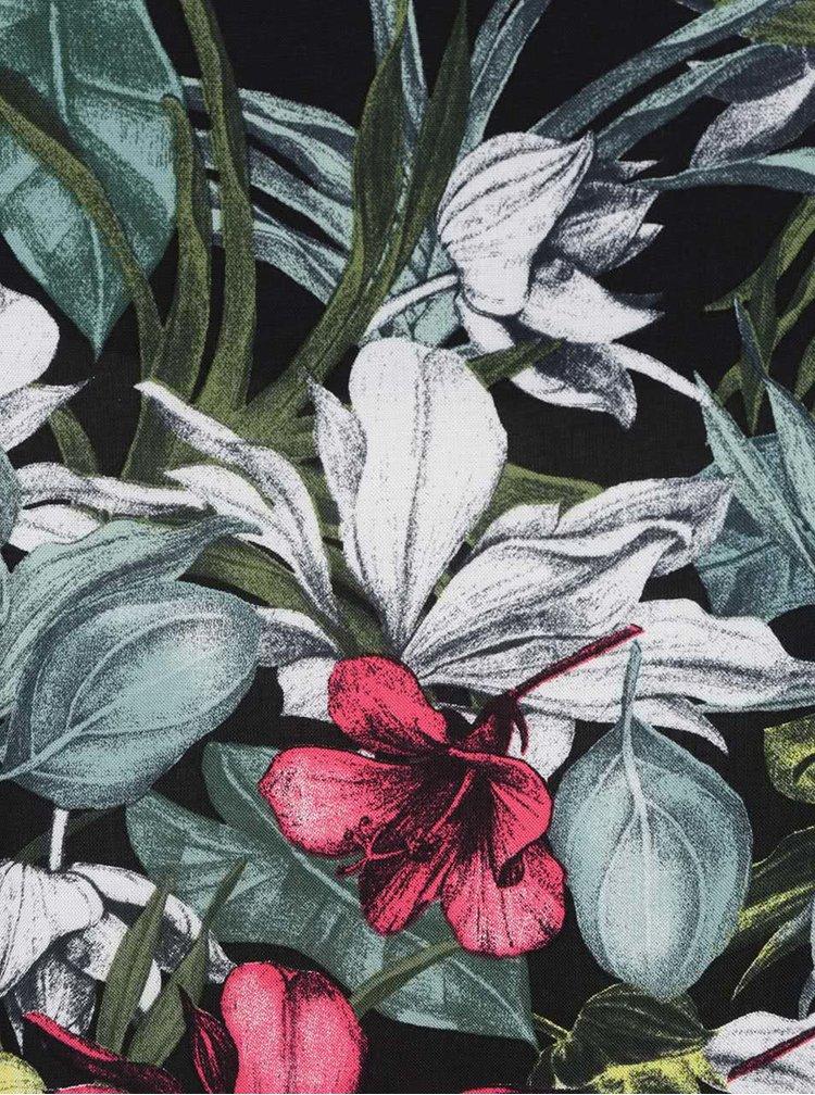 Černo-zelené květované tílko Dorothy Perkins