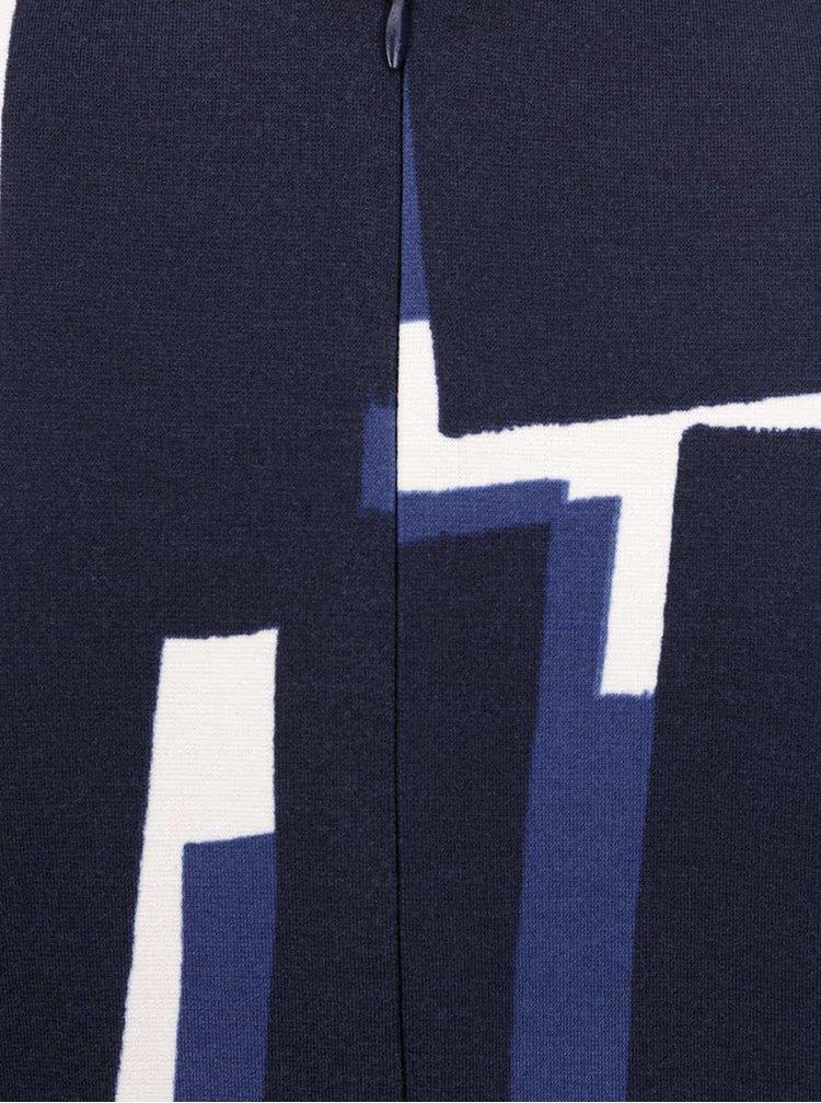 Tmavě modré vzorované šaty s překládaným topem Dorothy Perkins