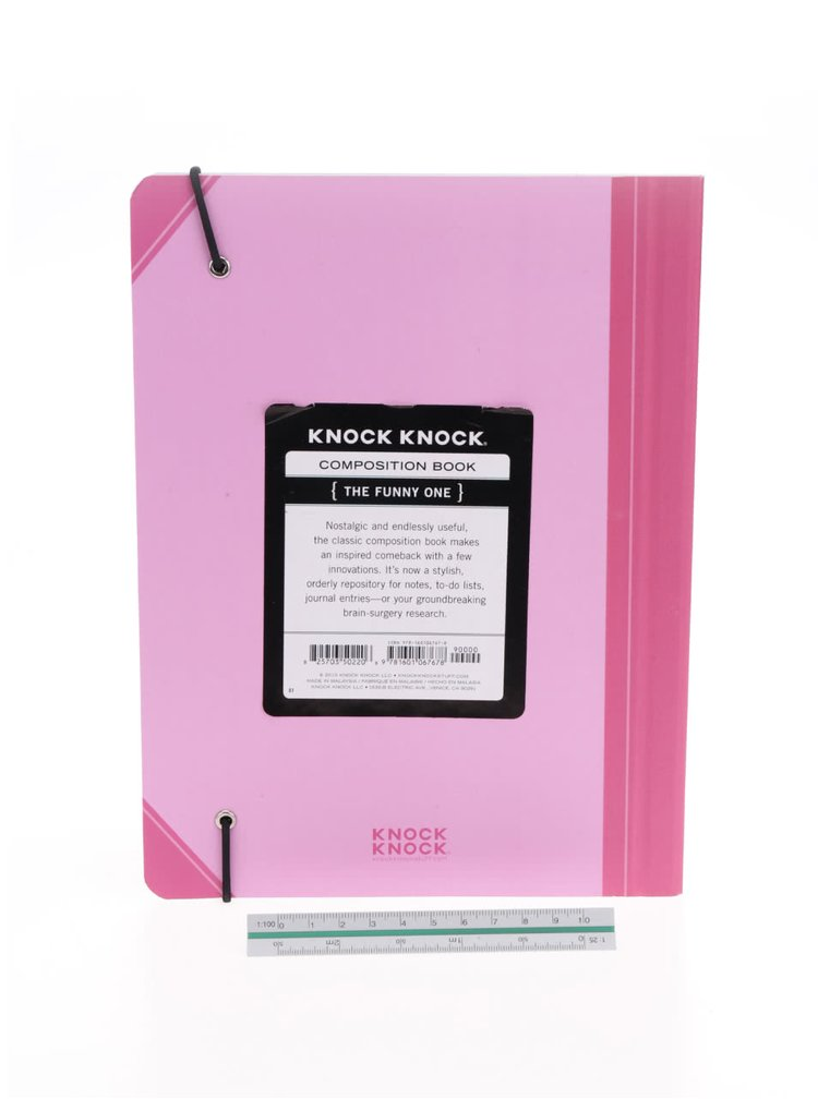 Růžový plánovací zápisník Knock Knock A4