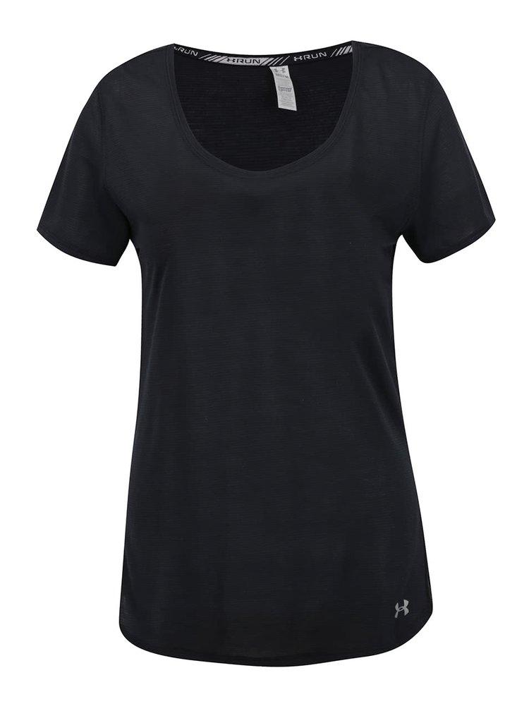 Tricou negru Under Armour Threadborne Streaker pentru femei
