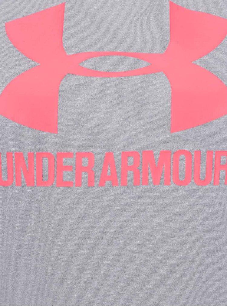 Šedé dámské funkční triko Under Armour Crew twist