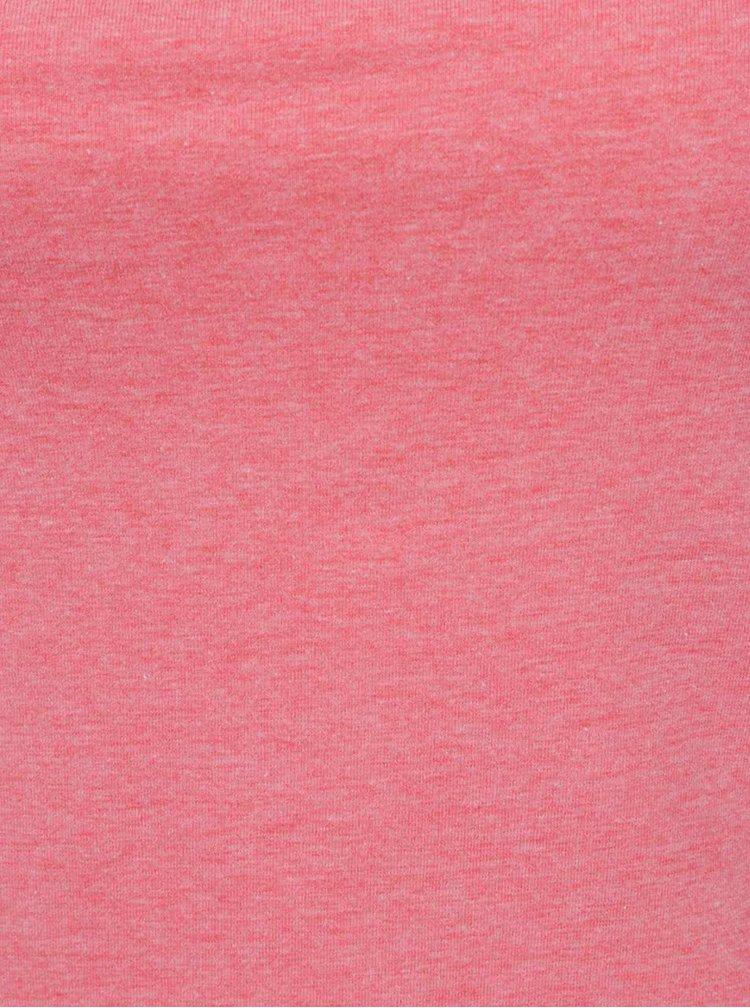 Růžové funkční dámské tílko Under Armour Favorite Shelf Bra Cami