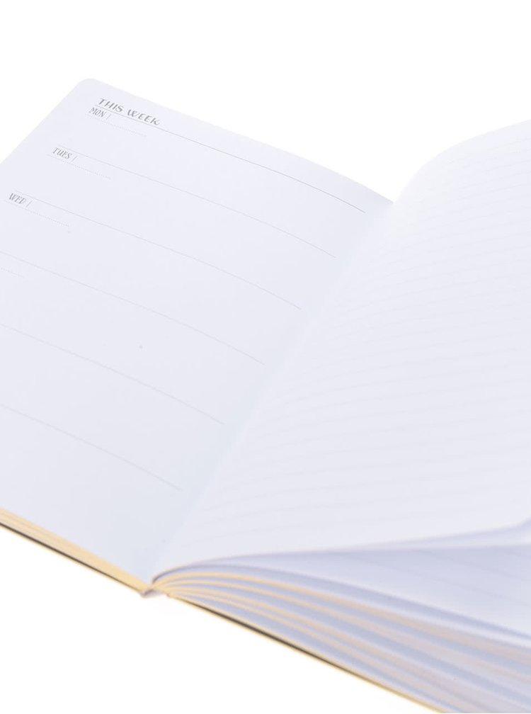 Svetlozelený týždenný plánovací diár na 13 mesiacov Galison A5