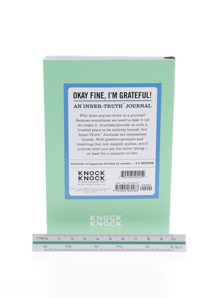 Světle zelený zápisník s citáty pro pozitivní myšlení Knock Knock A6
